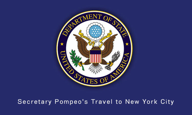 Secretary Pompeo's Travel to New York City