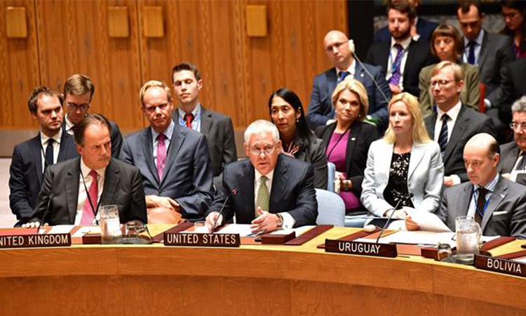 Secretary Tillerson Participates in the UN Security Council Session on Nuclear Non-Proliferation in New York City(DOD Photo)
