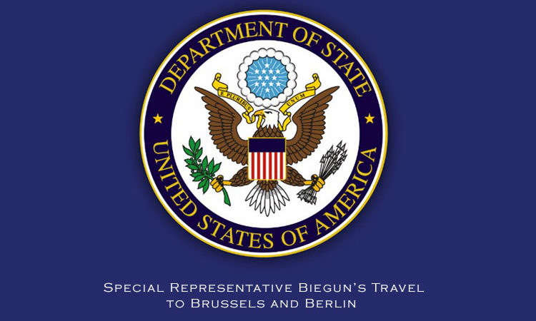 Special Representative Biegun's Travel to Brussels and Berlin