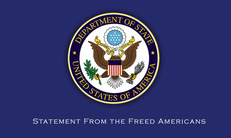 Statement From the Freed Americans