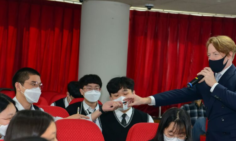 Interacting with Students in Ulsan Foreign Language High School
