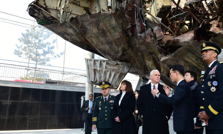 Vice President Mike Pence Visits Cheonan Memorial