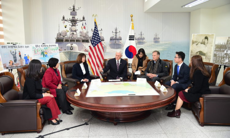 Vice President Mike Pence Meets North Korean Defectors