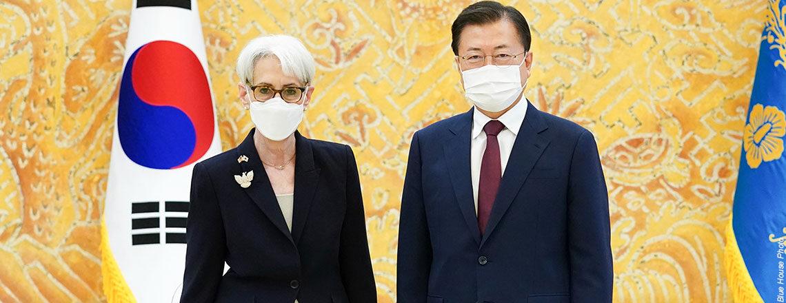Deputy Secretary Sherman Meets Republic of Korea President Moon Jae-in