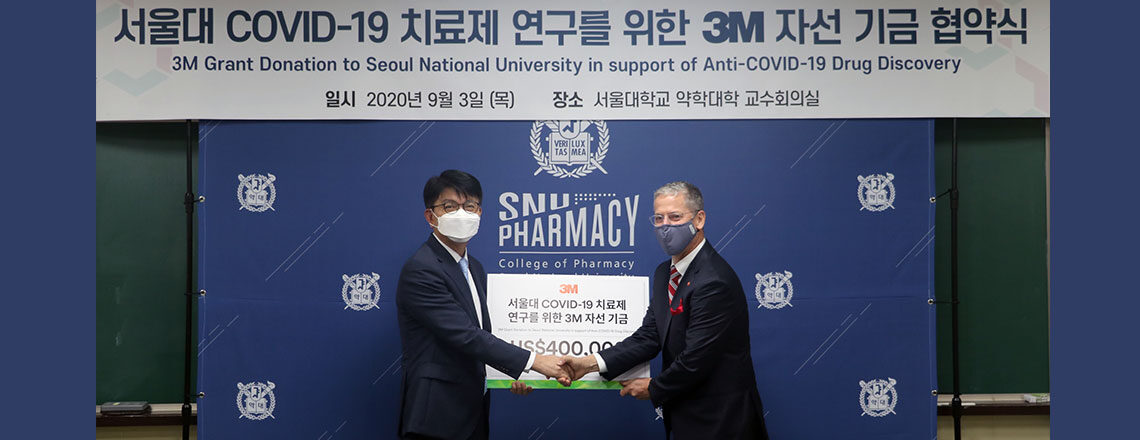 3M Awards Grants to Seoul National University to Develop Treatment for COVID-19