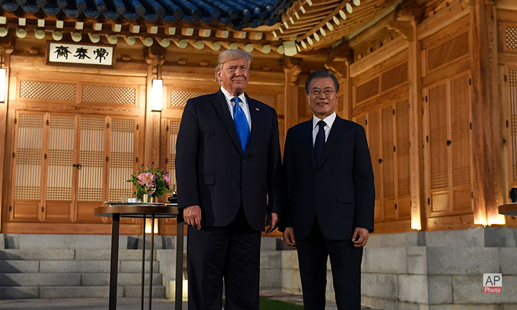 U.S. President Donald Trump Meets ROK President Moon Jae-in at the Blue House