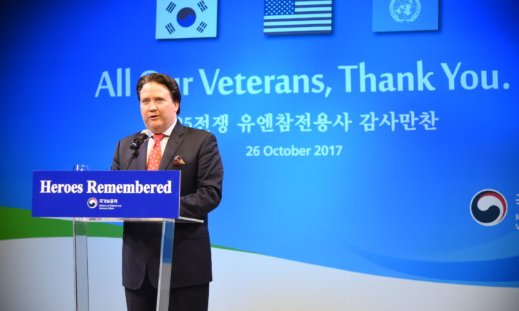 Chargé d'Affaires Marc Knapper Appreciates UN Korean War Veterans