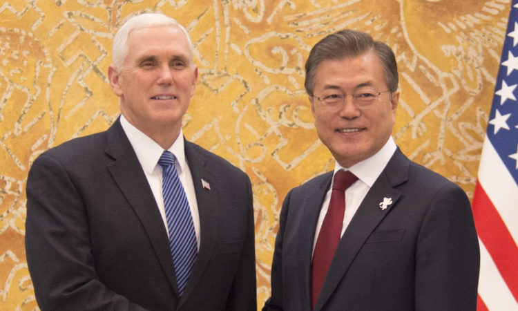 Vice President Mike Pence Meets President Moon Jae-In