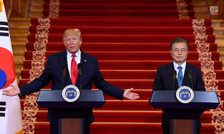 U.S. President Trump and ROK President Moon Participate in a News Conference