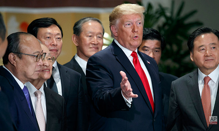 U.S. President Donald Trump Meets ROK Business Leaders