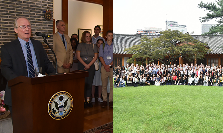 August 9, 2019 - Deputy Chief of Mission Rob Rapson hosted a luncheon reception in honor of the new Fulbright English Teaching Assistants (ETAs) who are in Korea to teach English in local schools throughout the country.