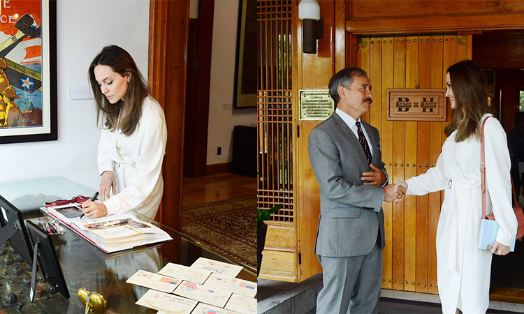 Ambassador Harry Harris Meets UNHCR Special Envoy Angelina Jolie at Habib House