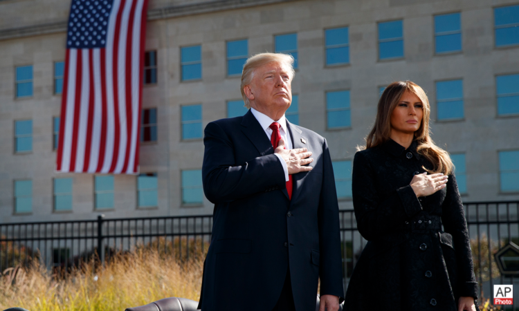 President Trump at the 9.11 Memorial Observance