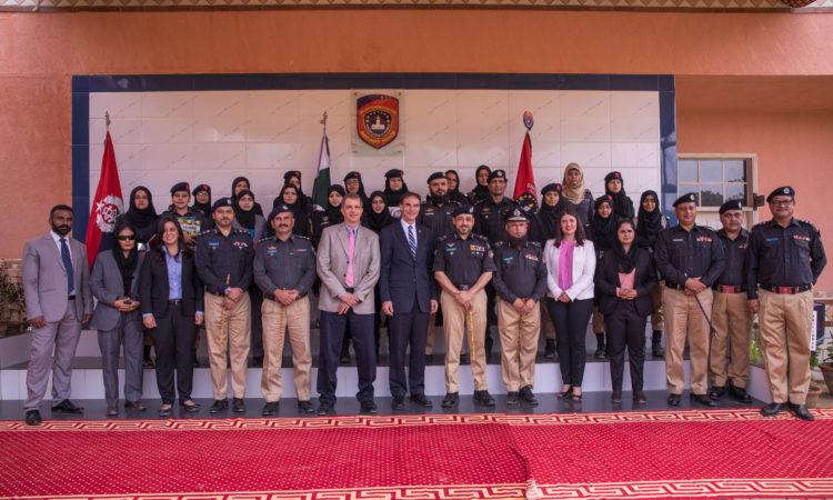 Ambassador Jones Visits Sindh Police Saeedabad Police Training College