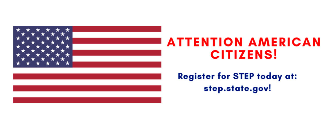 American Citizens: Register now for STEP!