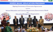 Consul General Stroh and CM Sindh Shah witness signing ceremony for management of USAID-funded schools