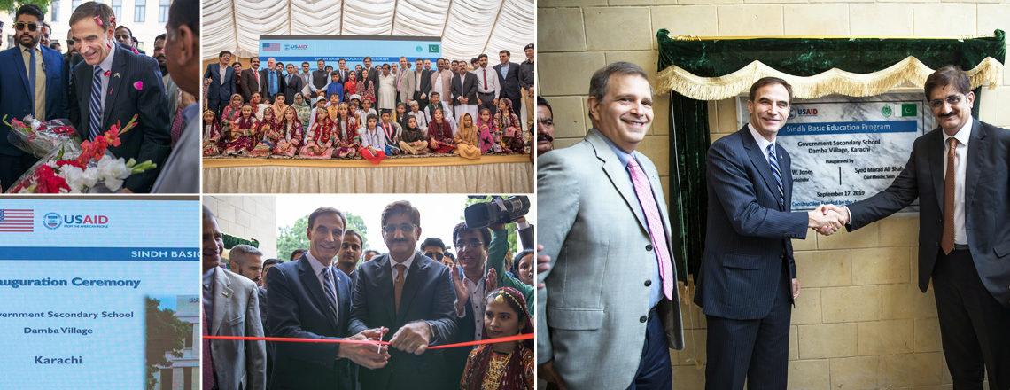 امریکی عوام کی طرف سے : امریکی سفیر پال جونز نے کراچی میں جدید سہولتوں سے آراستہ اسکول کا