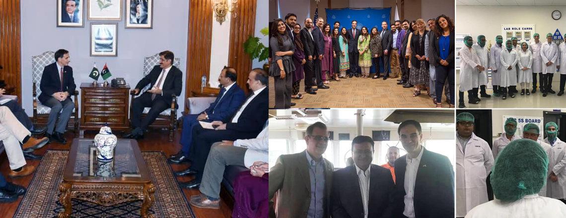 امریکی سفیر پال جونز نے حال ہی میں سندھ اور کراچی کا دورہ کیا