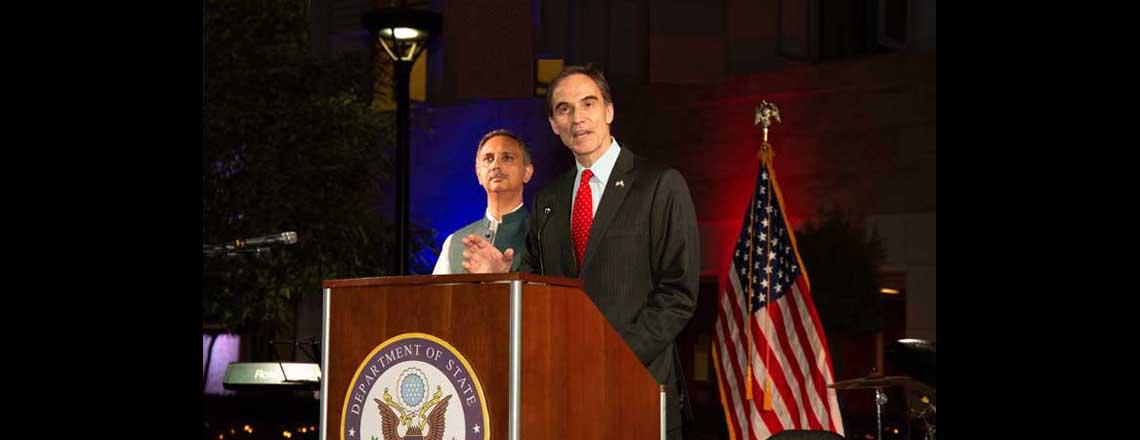 امریکہ کی یوم  آزادی تقریبات میں پاکستانی اور امریکی ساتھ ساتھ
