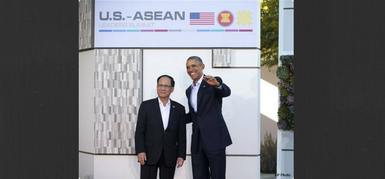 President Obama with ASEAN Secretary General H.E. Le Luong Minh at U.S.-ASEAN Summit in Sunnylands