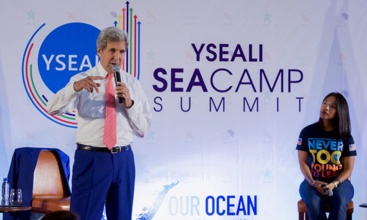 Secretary Kerry Delivers Remarks at a YSEALI Sea and Earth Advocate Camp