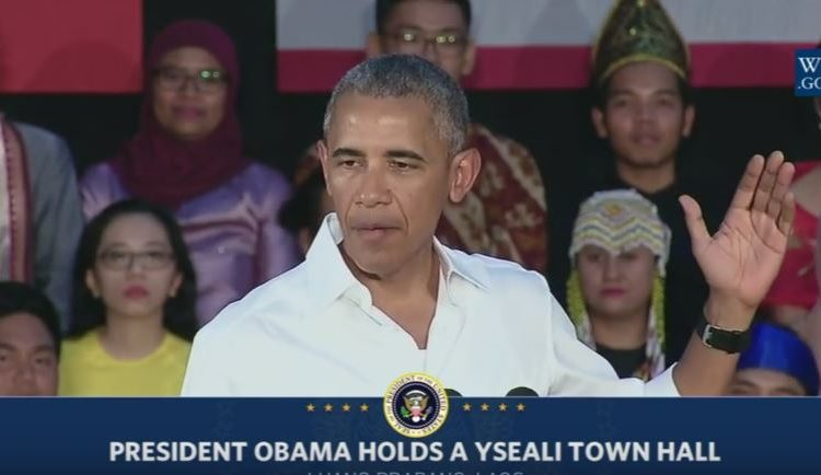 President Obama at YSEALI Summit in Laos