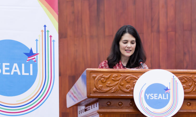 Ambassador Hachigian at YSEALI Summit in Laos