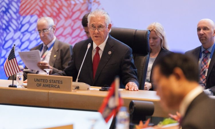 Secretary Tillerson at US-ASEAN Meeting in Manila, August 2017