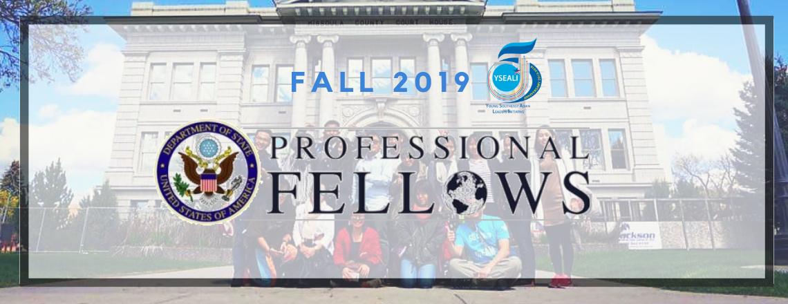 Fall 2019 YSEALI Professional Fellows