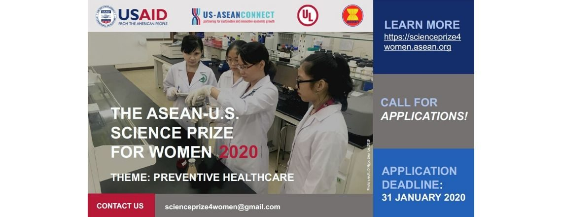 Call for Applications: The ASEAN-U.S. Science Prize for Women 2020