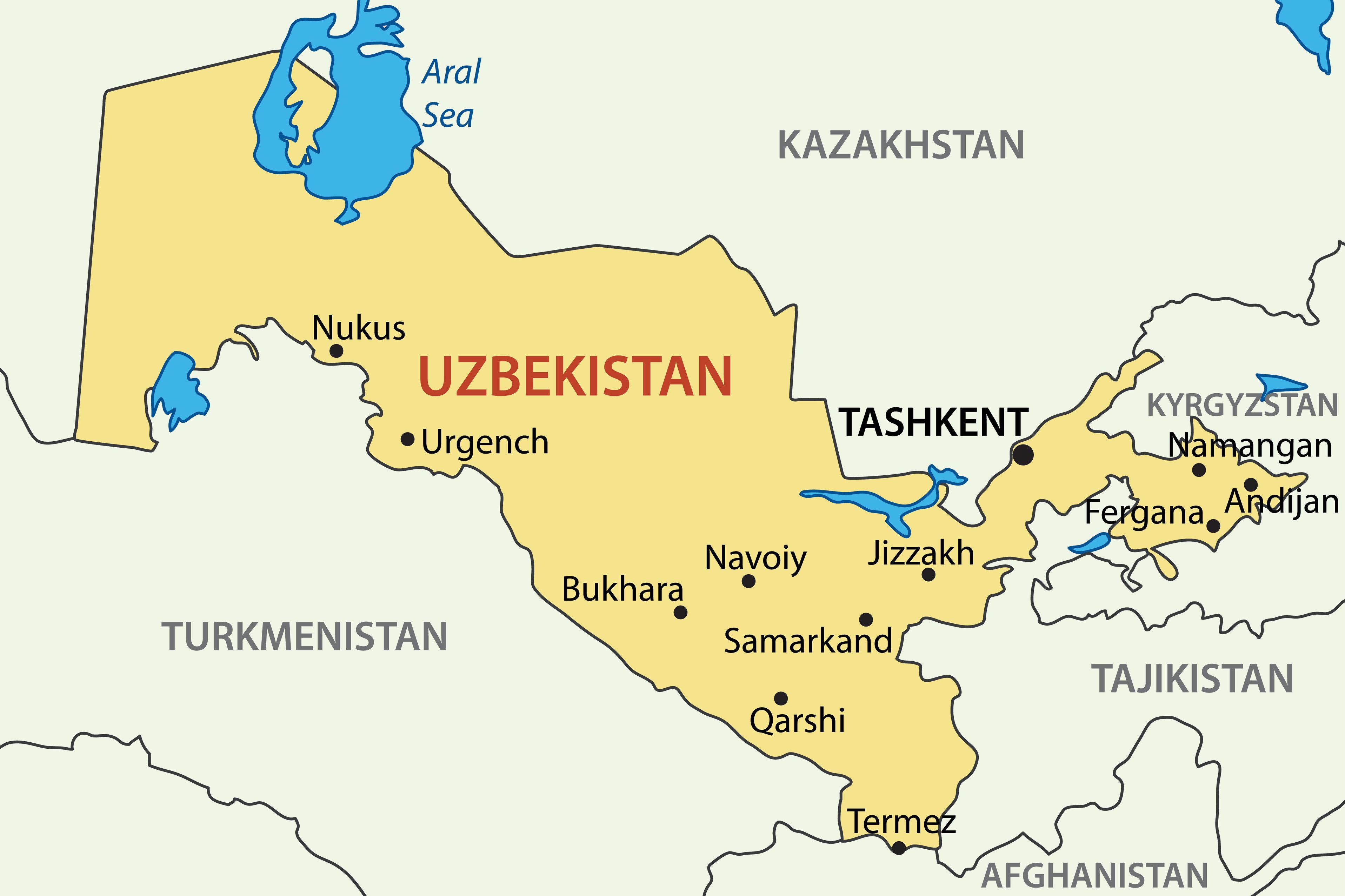 Uzbekistan map | U.S. Embassy in Uzbekistan