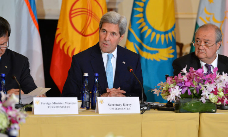 Secretary of State John Kerry at the Central Asia Ministerial