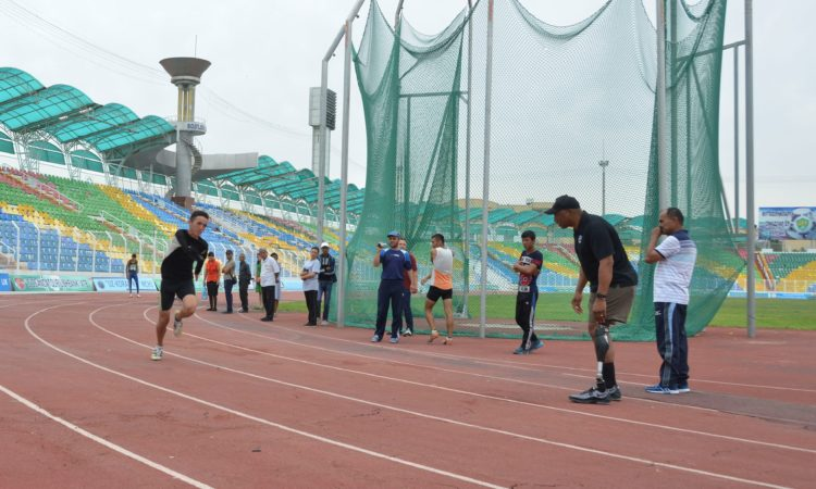 USA Paralympic medalist trains with Uzbek Athletes in Andijan