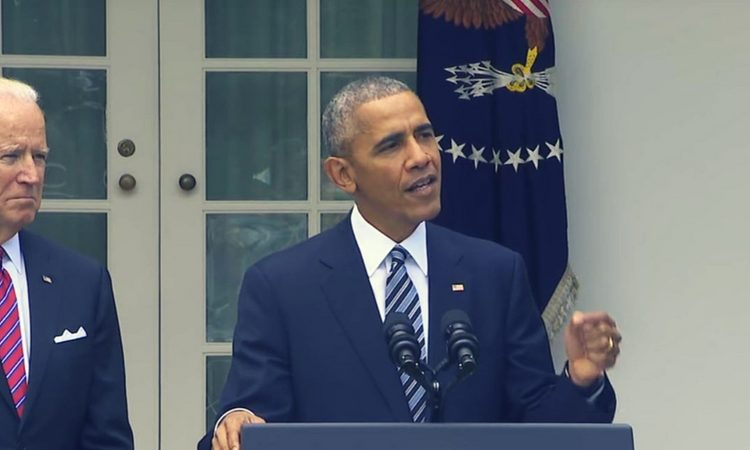 President Obama delivers a statement on the 2016 election