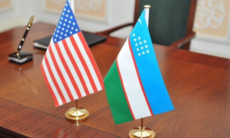 U.S. - Uzbek Flags