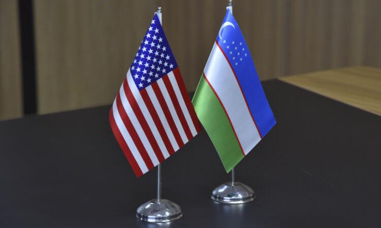 US-Uzbekistan flags