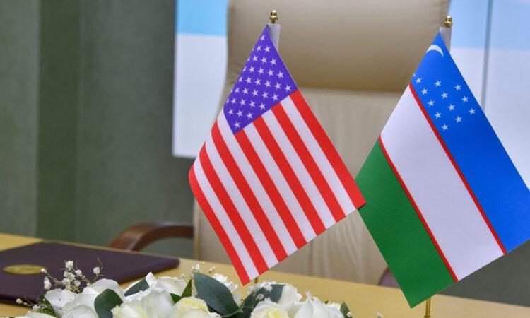 US-Uzbek flags