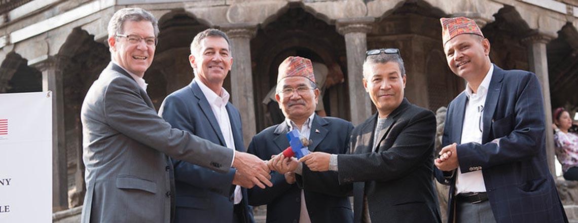 U.S. Embassy Inaugurates 18th Century Octagonal Krishna Temple Restoration Project