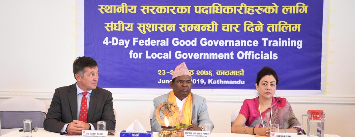 Inauguration of Trainings on Local Governance for Locally Elected Officials in Kathmandu