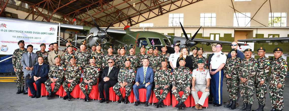 U.S. Hands Over Skytrucks to the Nepali Army