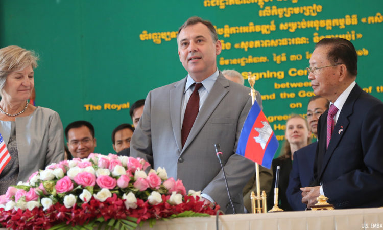 Ambassador William A. Heidt at the U.S. – Cambodia Bilateral Agreement Signing