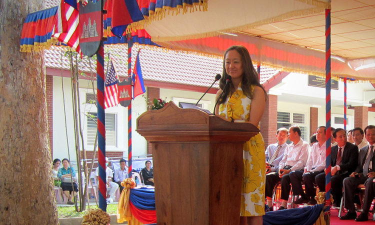 Deputy Chief of Mission Julie Chung at the Dedication Ceremony for Siem Reap Regional Blood Center