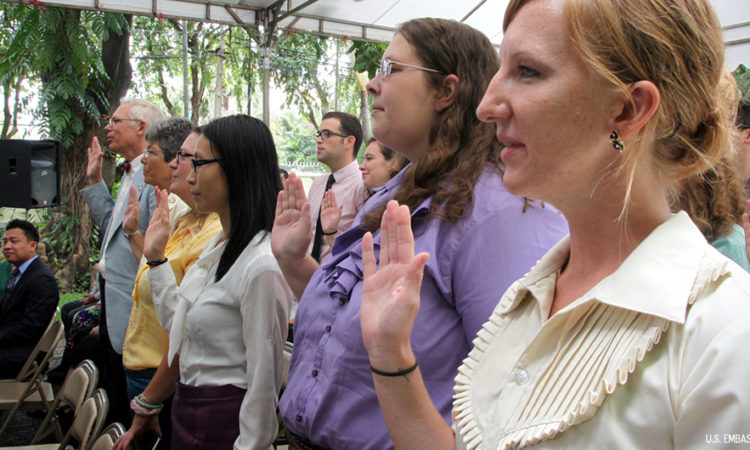 Swearing-In Ceremony for New Volunteers [Photo by Un Yarat]