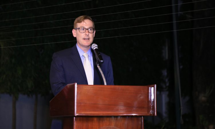 Chargé d'affaires Michael Newbill at Groundbreaking Celebration of an Angkor Wildlife and Aquarium Project