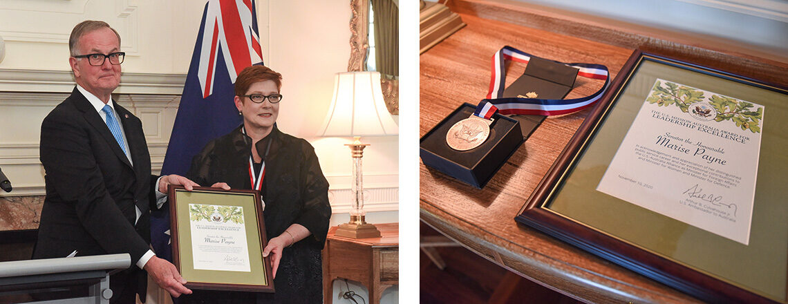 Foreign Minister Marise Payne Presented with Leadership Excellence Award