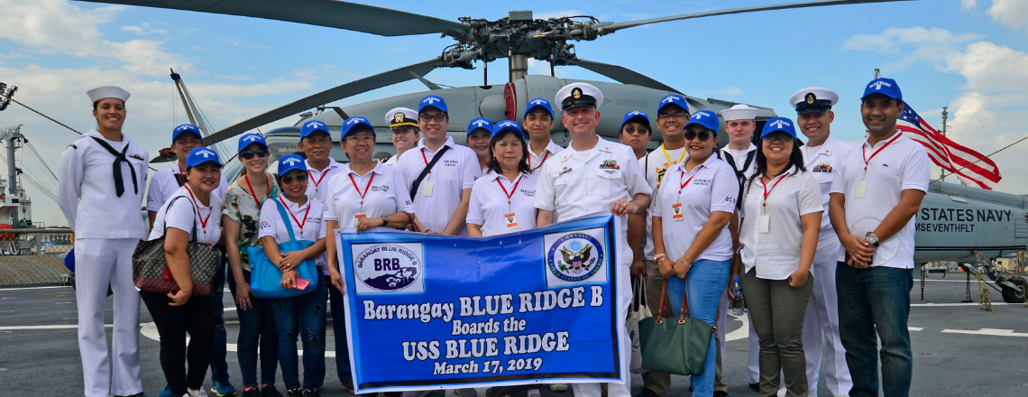 Philippines Barangay Blue Ridge Visits the USS Blue Ridge