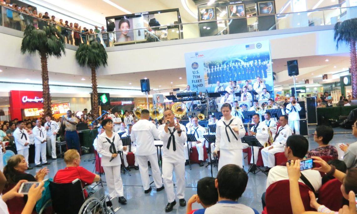 U S  Embassy Manila brought the U S  Navy 7th Fleet Band and