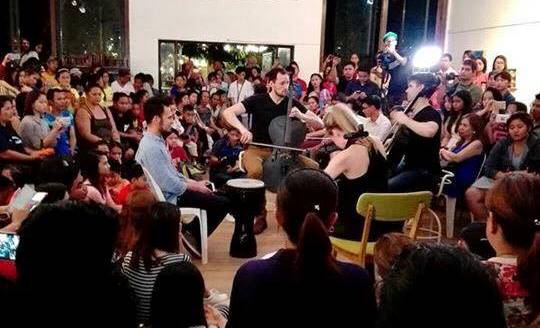 American cello rock band Break of Reality visits the Philippines   U S