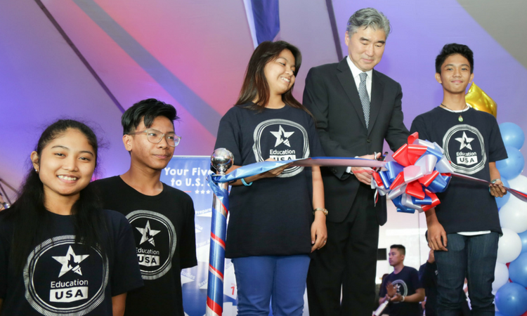 U.S. Ambassador Sung Y. Kim Opens Education USA Fair
