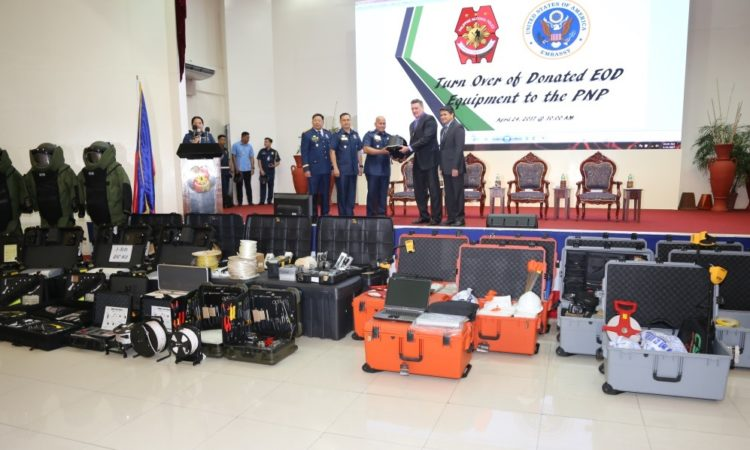 U.S. Department of State Turns Over Equipment at First Anniversary of Philippine National Police Explosive Ordinance Disposal K9 Group
